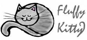 Cat furniture Logo Fluffy Kitty gris et rose