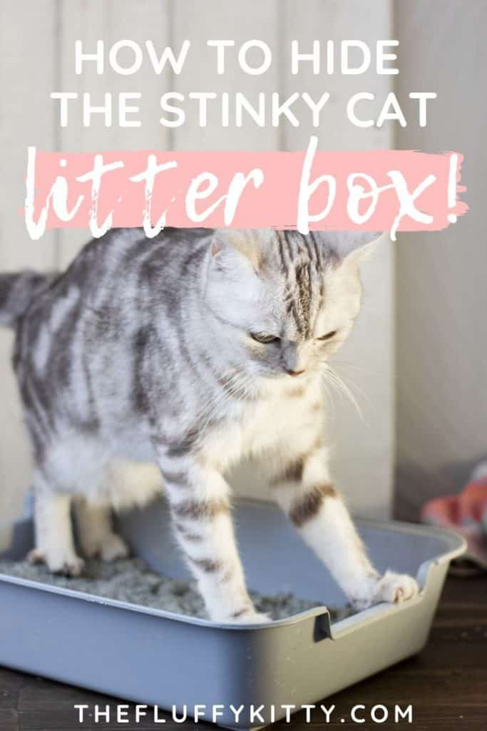 How to hide the stinky litter box using decorative cat litter box furniture! | thefluffykitty.com