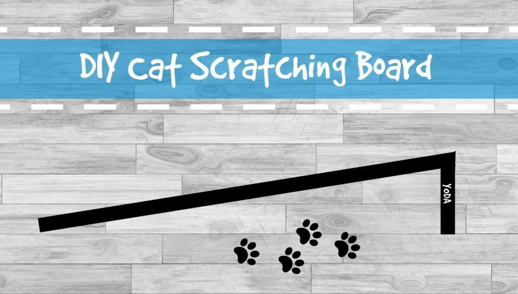 DIY cat scratching board header