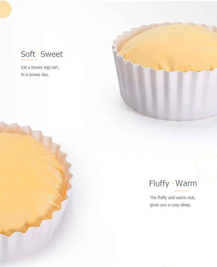 Fluffy Kitty Review: Cozy Egg Tart Cat Bed