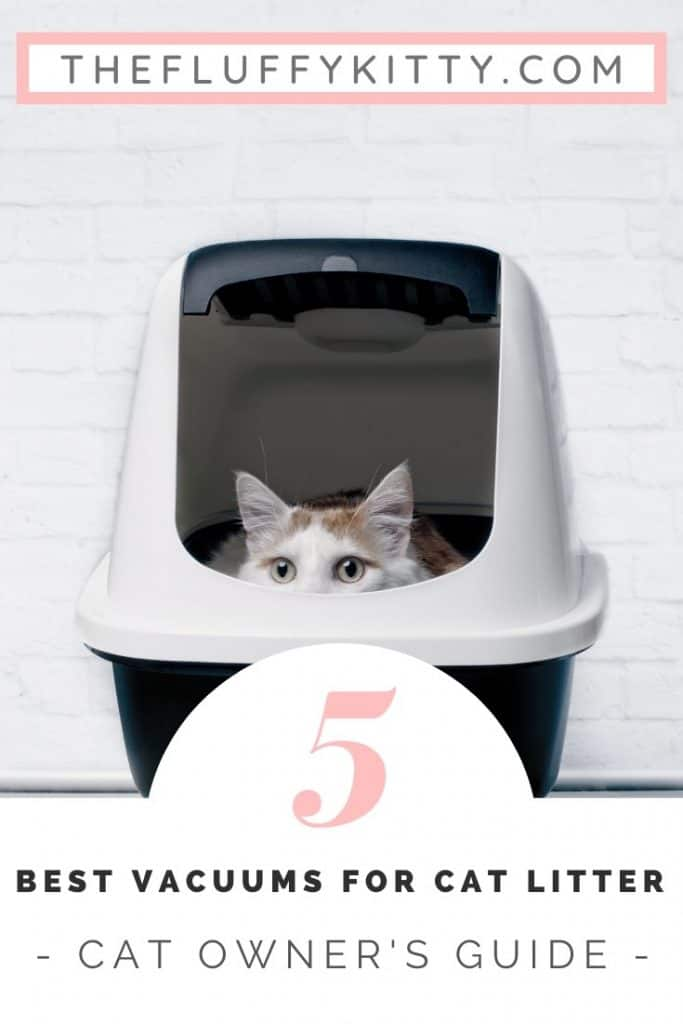 5 Vacuums for Cat Litter: A cat owner's guide to the best vacuum for picking up pesky cat litter! #vacuums #cats #home #catlitter