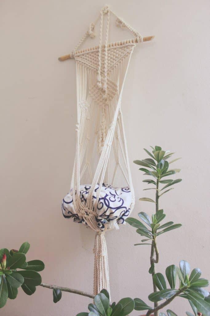 Handmade macrame cat hammocks | Meowcramé by Fluffy Kitty